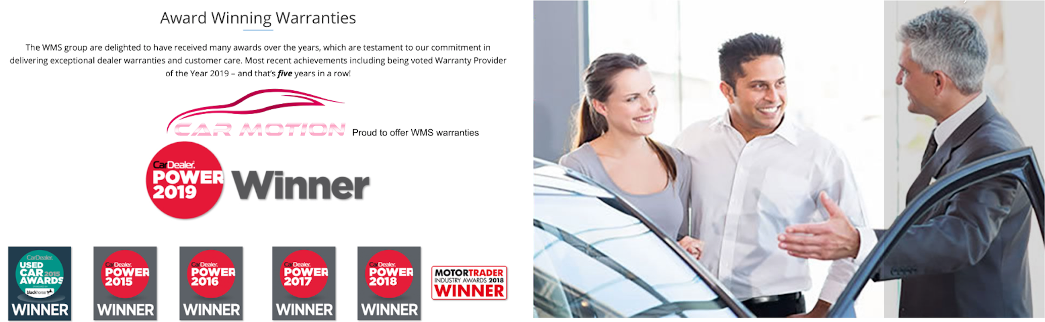 Warranty with Car Motion in Rotherham, South Yorkshire